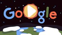 Google rayakan Hari Bumi 2019 dengan doodle keragaman hayati. (Doc: Google Doodle)