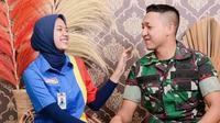 Potret  prewedding pasangan TNI AD dan karyawan minimarket yang curi perhatian. (Sumber: Instagram/@para_pejuang_ldr)