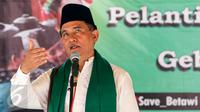 Yusril Ihza Mahendra saat memberikan sambutan dalam acara Gebyar Budaya Betawi di Balai Rakyat Condet, Kramatjati, Jakarta Timur, Minggu (20/3/2016). (Liputan6.com/Yoppy Renato)
