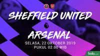 Premier League - Sheffield United Vs Arsenal (Bola.com/Adreanus Titus)