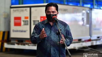 Tinjau Vaksinasi di Medan, Erick Thohir: Masker dan Vaksin Kunci Cegah Covid-19