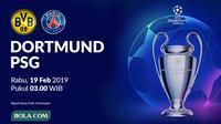 Liga Champions 2019-2020: Borussia Dortmund vs PSG. (Bola.com/Dody Iryawan)