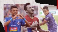 Samsul Arif, Osvaldo Haay dan Dedik Setiawan. (Bola.com/Dody Iryawan)