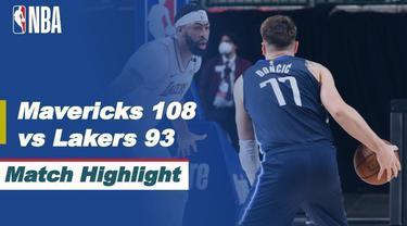 Berita Video LA LAkers kalah atas Dallas Mavericks 108-93 di NBA Hari Ini