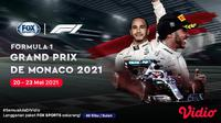 Streaming Formula 1 2021 Monaco Series di FOX Sports Eksklusif Melalui Vidio. (Sumber : dok. vidio.com)