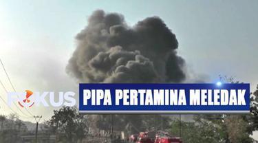 Berdasarkan keterangan polisi, saat kejadian sejumlah pekerja tengah melakukan pengeboran untuk pemasangan tiang pasak bumi.