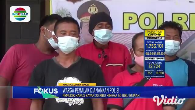 Polisi mengamankan 12 warga yang membantu pemudik lolos dari petugas penyekatan perbatasan Jawa Tengah dan Jawa Timur. Sebanyak 11 di antaranya merupakan warga Kabupaten Wonogiri, Jawa Tengah, dan seorang lainnya merupakan warga Pacitan, Jawa Timur.