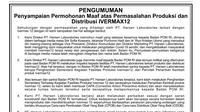Penyampaian maaf produsen Ivermectin Ivermax12 PT Harsen Laboratories