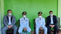 Bupati/Wakil Bupati Sabu Raijua didampingi kuasa hukumnya, Adhitya Nasution usai dilantik di Aula El Tari Kupang. (Foto Istimewah)