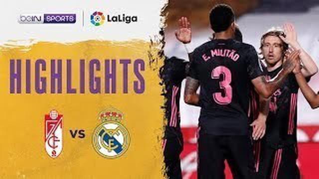 Berita video highlights kemenangan Real Madrid 4-1 atas Granada pada pekan ke-36 Liga Spanyol 2020/2021, Jumat (14/5/2021) dinihari WIB.