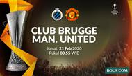 Liga Europa - Club Brugge Vs Manchester United. (Bola.com/Dody Iryawan)