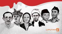 Banner Infografis 6 Pahlawan Nasional 2018. (Liputan6.com/Abdillah)