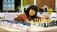 Samantha Edithso meraih gelar juara dunia dalam ajang FIDE Wordl Championship 2018 U-10 yang berlangsung di Minks, Belarusia, akhir Juni lalu. (www.facebook.com/asianyouthchess2018)