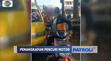 Seorang pencuri motor yang lolos dari kejaran warga akhirnya diciduk polisi, saat kabur dengan angkutan kota di Padang Sidempuan, Sumatra Utara.