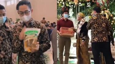 Sekelompok Pria Bawa Sembako Ke Pernikahan Teman, Warganet: Lumayan Nggak Belanja
