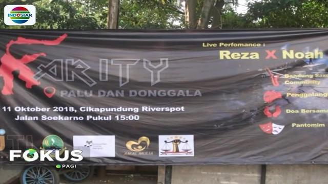 Acara penggalangan dana dimeriahkan penampilan pentas seni dari seniman budayawan Bandung, komunitas musisi dan mengaji, dan pantomim.