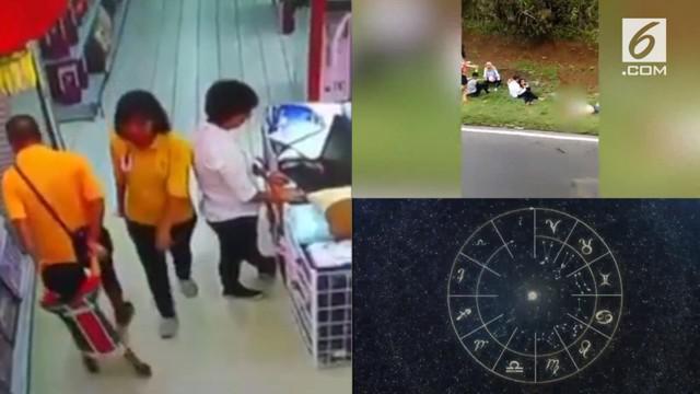 Video Hit hari ini datang dari kecelakaan yang terjadi algi di tanjakan eman, rekaman seorang ayah yang menindih anaknya hingga pingsan, dan ramalan zodiak tukang bohong.