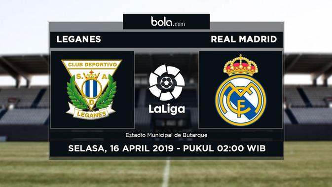 Live Streaming La Liga Leganes vs Real Madrid di SCTV - Bola Liputan6.com
