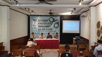 "Diskusi ""Ancaman Kriminalisasi Narasumber dalam Berita' bersama LBH Pers dan AJI Indonesia (Liputan6.com/Nanda)"