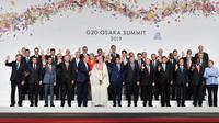 Presiden Jokowi dalam pelaksanaan Konferensi Tingkat Tinggi (KTT) G20 di Osaka, Jepang. (Biro Pers Istana)