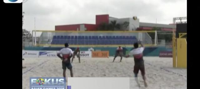Targetkan dapat dua medali emas, tim voli pantai putra Indonesia lakukan latihan intensif dan matangkan strategi.