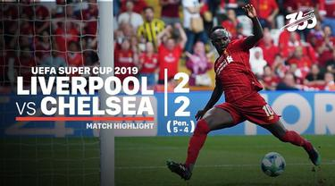 Berita video highlights Piala Super Eropa 2019 antara Liverpool melawan Chelsea yang berakhir dengan adu penalti setelah bermain pada waktu normal dan tambahan waktu imbang 2-2, Rabu (14/8/2019).