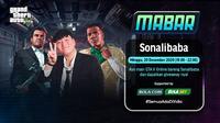 Main bareng GTA V bersama Sonalibaba, Minggu (20/12/2020) pukul 19.00 WIB dapat disaksikan melalui platform streaming Vidio, laman Bola.com, dan juga Bola.net.