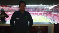 Jurnalis KLY Sports, Nurfahmi Budiarto berada di ruang VIP Stadion Wanda Metropolitano. (Foto / Ist)