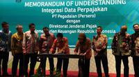 MoU integrasi data perpajakan PT Pegadaian dengan Ditjen Pajak Kemenkeu (Foto:Merdeka.com/Anggun P.Situmorang)