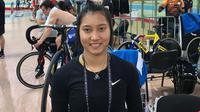 Pembalap sepeda Indonesia, Crismonita Dwi Putri. (PB ISSI)