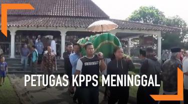 Seorang anggota KPPS di Cianjur, Jawa Barat meninggal diduga kelelahan setelah mengurus Pemilu 2019.