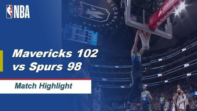 Berita Video Highlights NBA 2019-2020, Dallas Mavericks Vs San Antonio Spurs 102-98