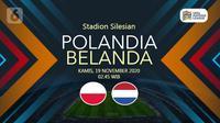 Polandia vs Belanda  (Liputan6.com/Abdillah)