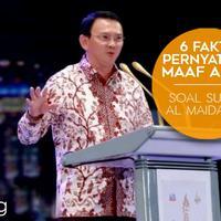 5 Fakta Pernyataan Maaf Ahok Soal Surat Al Maidah 51. (Digital Imaging: Nurman Abdul Hakim)