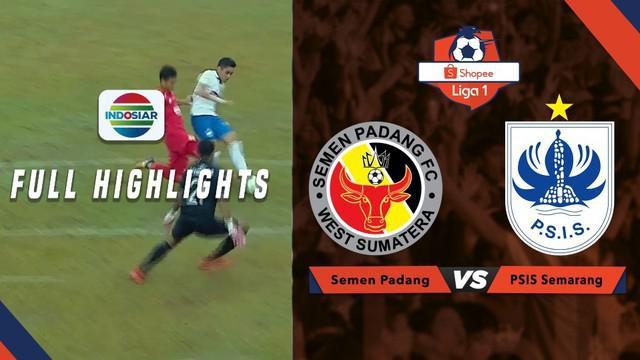 Berita video highlights Shopee Liga 1 2019 antara Semen Padang melawan PSIS Semarang yang berakhir dengan skor 1-0, Jumat (16/8/2019).
