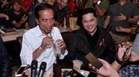 Calon petahana Jokowi saat berbicara soal kopi Riau di Dumai. (Istimewa)