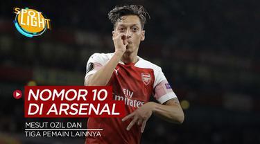 Berita video spotlight kali membahas tentang empat pemain nomor punggung 10 yang sukses di Arsenal, salah satunyanya ialah Mesut Ozil.