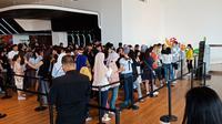 Antusiasme masyarakat begitu besar di hari pertama pameran Yayoi Kusama (Liputan6/Vinsensia Dianawanti)