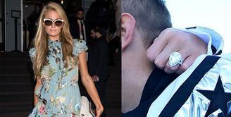 Chris Zylka melamar Paris Hilton di awal tahun dengan sebuah cincin seharga hampir Rp27 miliar.(Getty Images/Cosmopolitan)