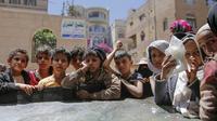 Potret anak-anak yang terancam kelaparan akut akibat Perang Yaman (AP/Hani Mohamed)