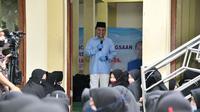 Wakil Ketua MPR RI Syarief Hasan saat menjadi pembicara tunggal pada acara Temu Tokoh Kebangsaan. Acara tersebut berlangsung di Pondok Pesantren An Nidzom Kota Sukabumi, Jawa Barat, Kamis (22/10).