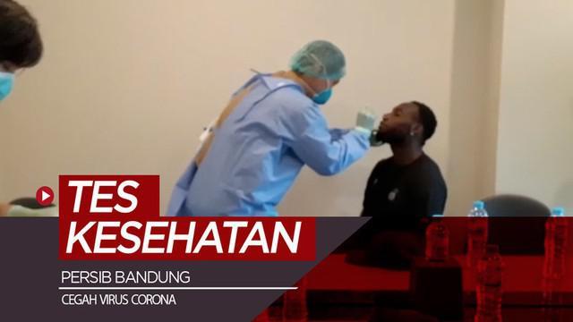 Berita video beberapa pemain di tim Persib Bandung menjalani tes kesehatan sebagai langkah pencegahan terhadap terpaparnya virus Corona.