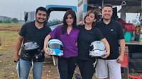 Vanesha Priscilla dan Sissy Priscilla akan mengikuti ajang reli di Sirkuit Paramount, Gading Serpong, Tangerang Selatan, 12-13 Mei 2018. (Benteng Motorsport Sprint Rally)