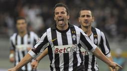 Alessandro del Piero. Striker Italia ini sukses mencetak 6 gol di semifinal dan final Liga Champions bersama Juventus serta sukses mempersembahkan 1 gelar untuk Juventus pada musim 1995/1996. (AFP/Olivier Morin)