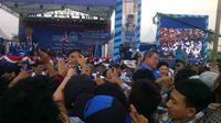 SBY dan Edhie Baskoro Yudhoyono kampanye di Bantul, DIY (Liputan6.com/Fathi Mahmud)
