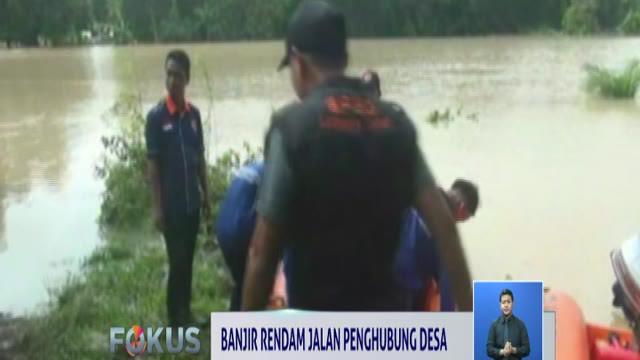 Banjir yang disebabkan luapan Sungai Waysekampung ini telah terjadi selama lebih dari 4 hari akibat guyuran hujan deras.
