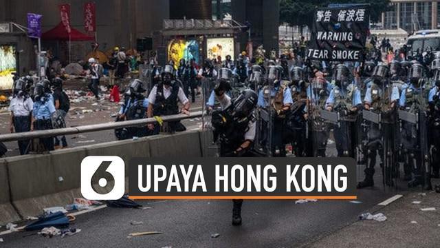 Demo di Hong Kong memanas sejak tiga bulan belakangan. Pemerintah pun telah mengupayakan berbagai strategi untuk redam demo.