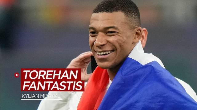 Berita motion grafis torehan fantastis bintang PSG dan Timnas Prancis, Kylian Mbappe, dalam angka.
