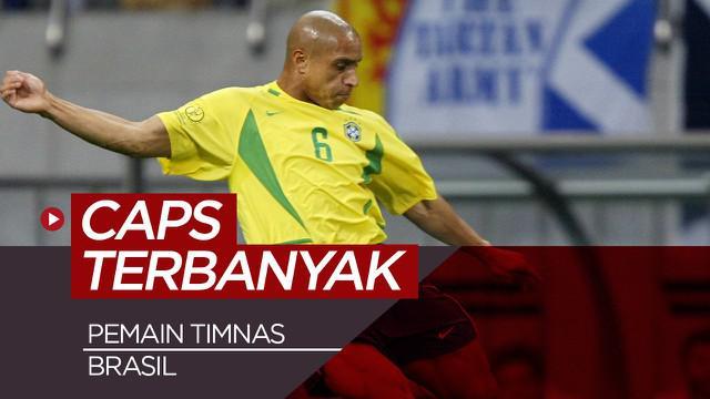 Berita video 5 pemain timnas Brasil dengan penampilan terbanyak.