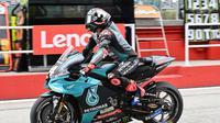 Pembalap Petronas Yamaha SRT, Andrea Dovizioso (ANDREAS SOLARO / AFP)